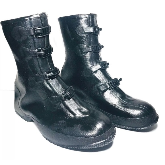 New Mens 5 Buckle Rubber Boots Size 5